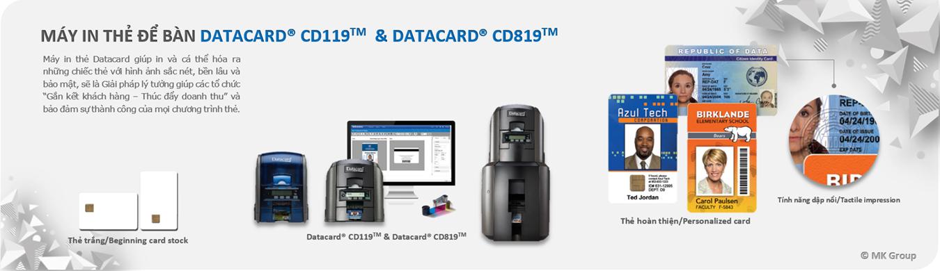 Banner Datacard CD119 và CD819 - MK