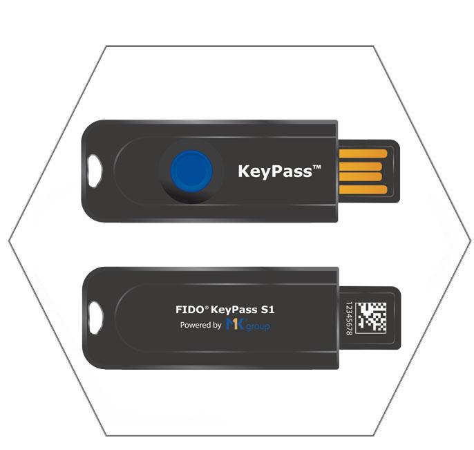 FIDO Keypass S1 - Thiết bị khóa bảo mật cho tài khoản trực tuyến - Máy in thẻ nhựa, máy dập nổi, đầu đọc thẻ nhựa