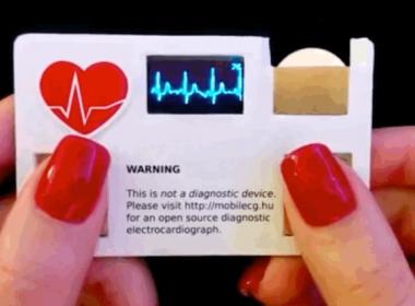 Danh thiếp tích hợp chức năng đo điện tâm đồ cho các bác sỹ - Máy in thẻ nhựa, máy dập nổi, đầu đọc thẻ nhựa