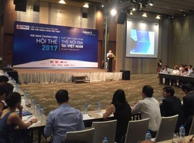 MK Group đồng hành cùng Hội nghị thường niên Hội Thẻ Ngân hàng Việt Nam 2017 - Máy in thẻ nhựa, máy dập nổi, đầu đọc thẻ nhựa