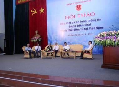 MK Group tham dự Hội thảo Bảo mật và an toàn thông tin trong triển khai chính phủ điện tử tại Việt Nam - Máy in thẻ nhựa, máy dập nổi, đầu đọc thẻ nhựa