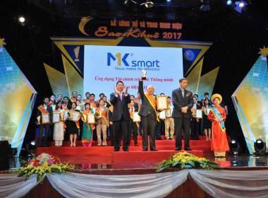 MK Smart nhận giải thưởng Sao Khuê 2017 - Máy in thẻ nhựa, máy dập nổi, đầu đọc thẻ nhựa