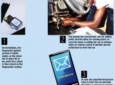 Sinh viên Uganda sáng chế công nghệ khởi động ô tô bằng vân tay - MK