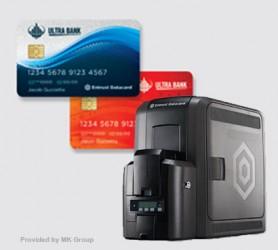 Máy in - Cá thể hóa thẻ Entrust ® CR825 - Máy in thẻ nhựa, máy dập nổi, đầu đọc thẻ nhựa