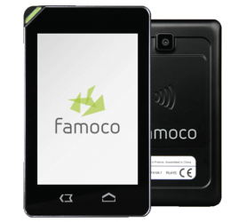 Đầu đọc thẻ không tiếp xúc cầm tay Famoco FX100 - Máy in thẻ nhựa, máy dập nổi, đầu đọc thẻ nhựa