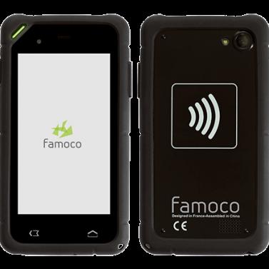 Đầu đọc thẻ không tiếp xúc cầm tay Famoco FX200 - Máy in thẻ nhựa, máy dập nổi, đầu đọc thẻ nhựa