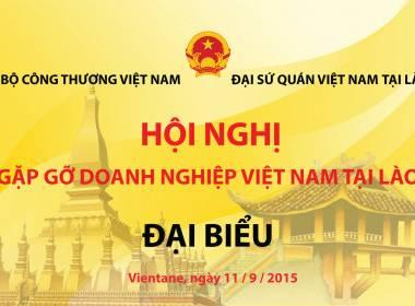 Tài trợ Thẻ sự kiện Hội DN Việt Nam tại Lào - MK
